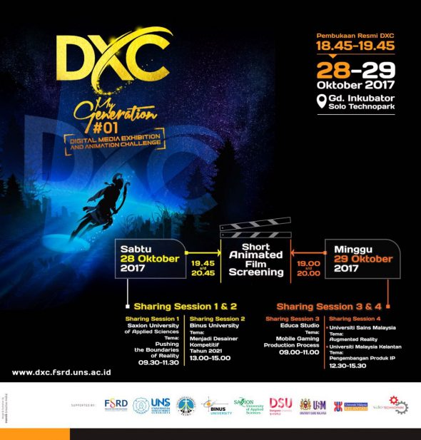 Mewakili Educa Studio menjadi Pembicara di Acara DXC My Generation UNS Surakarta