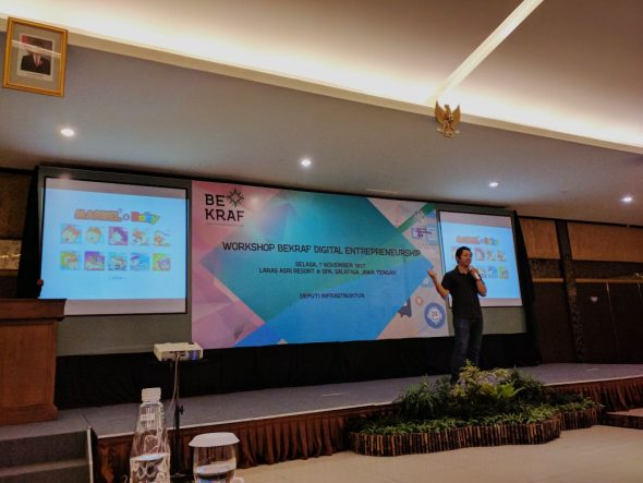 Menjadi Keynote Speaker di Workshop Bekraf Digital Enterpreneurship Salatiga